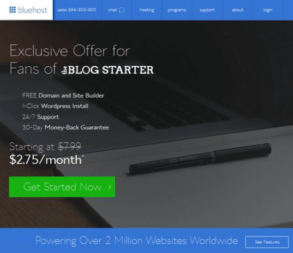 Step 2: Set Up Your Blog · The Blog Starter The Blog Starter