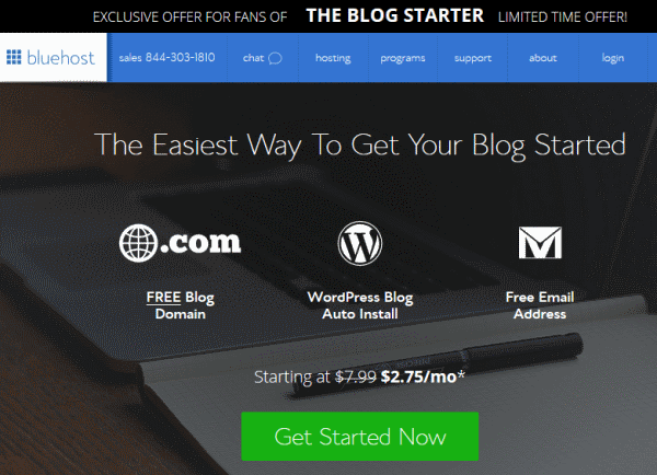 bluehost blog 275 - Beginners Guide- Setting up a Blog Using Bluehost Hosting