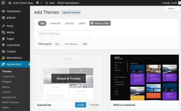 How to change your theme on your blog