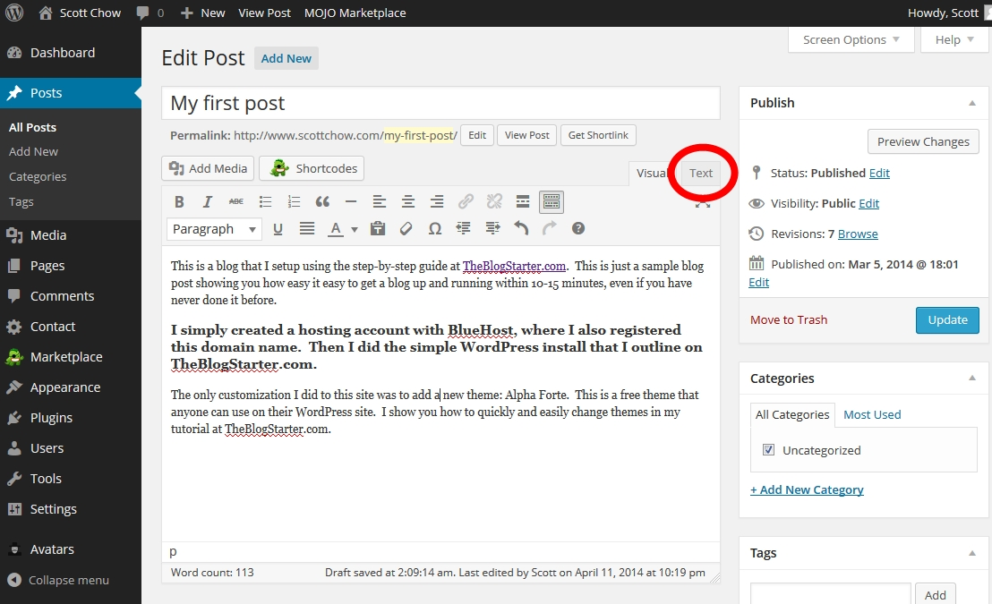How to Change Your Text Size and Color in WordPress · The Blog ...