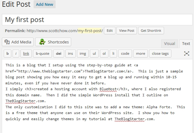 How to Change Your Text Size and Color in WordPress · The