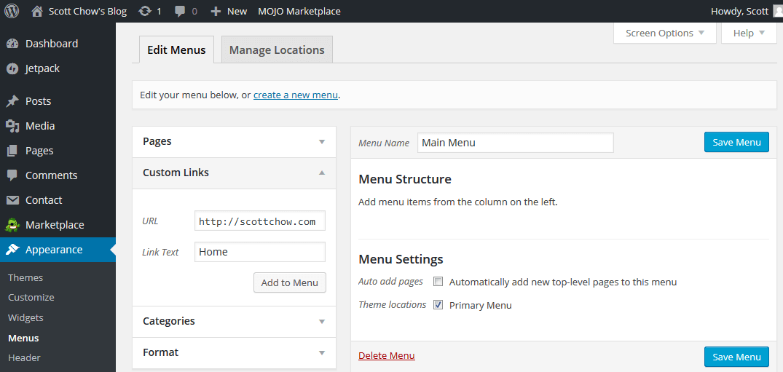 menu wordpress-3