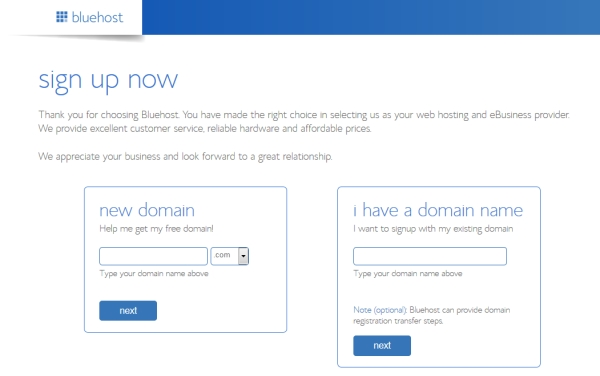 domain registration - Beginners Guide- Setting up a Blog Using Bluehost Hosting
