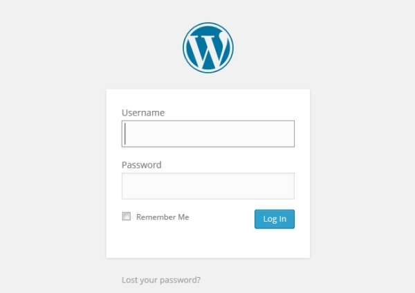 Website username, password