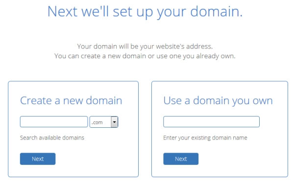 You'll need to choose a domain name for the new blog you're going to create