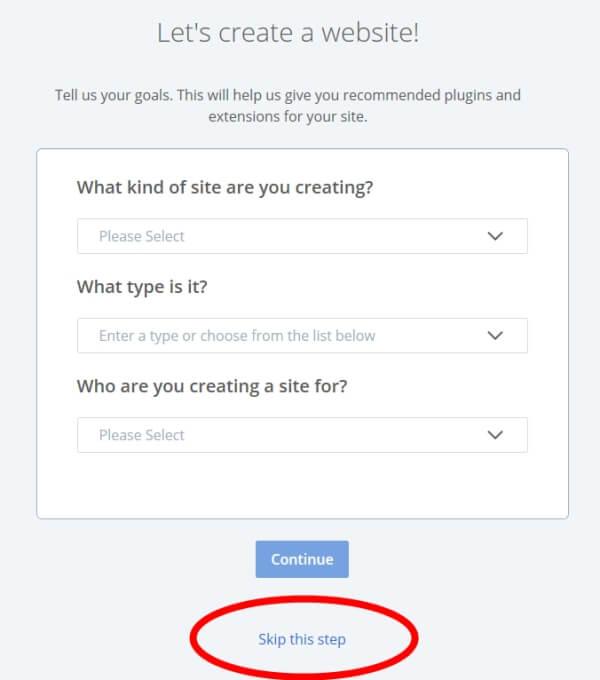 Como usar o assistente de instalação do WordPress